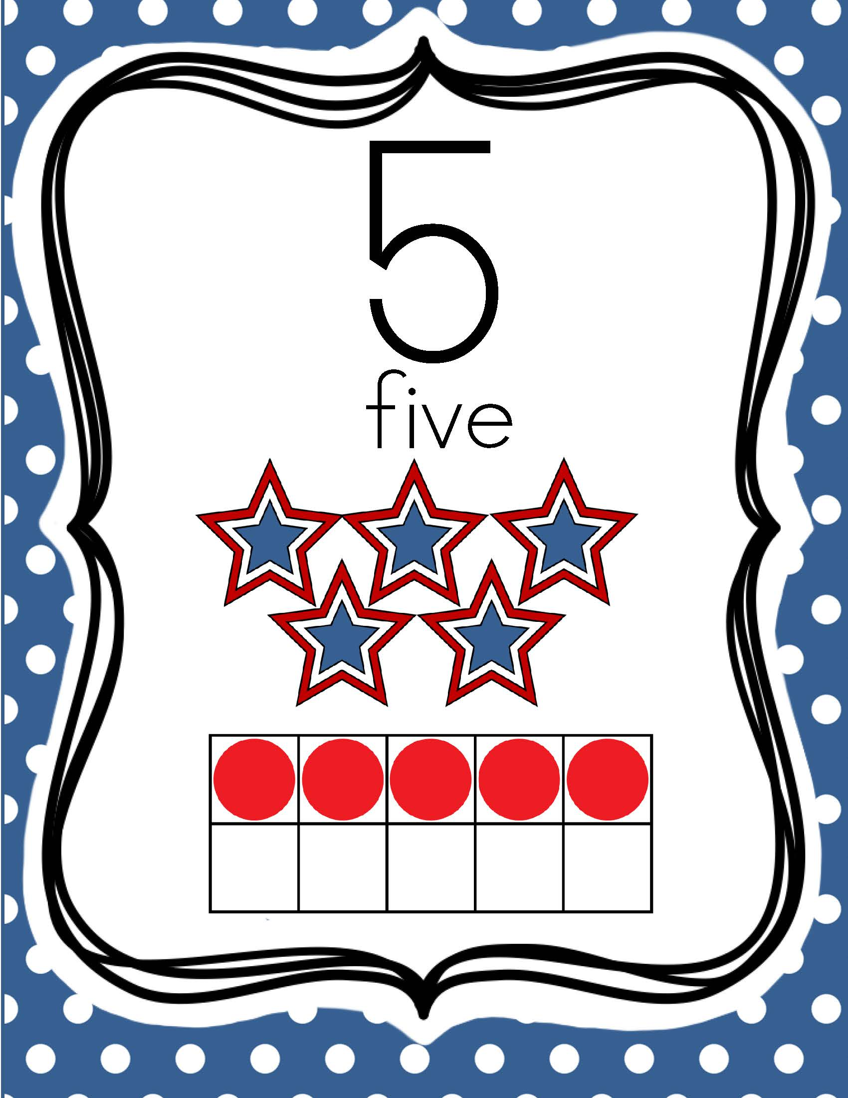 July 4th Number Posters Amp Worksheets 0 20