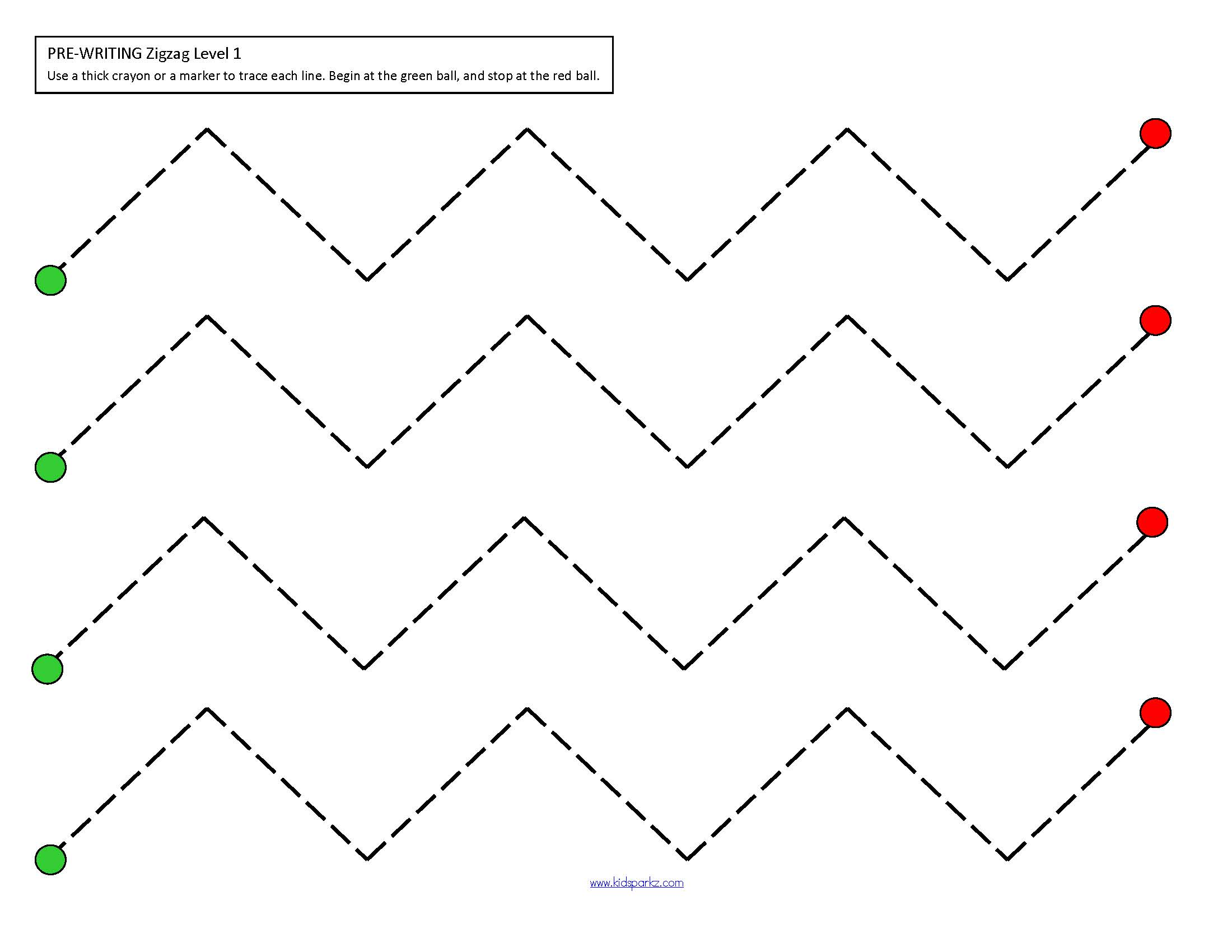 Fine Motor Skills Tracing Pre Writing Practice Packet