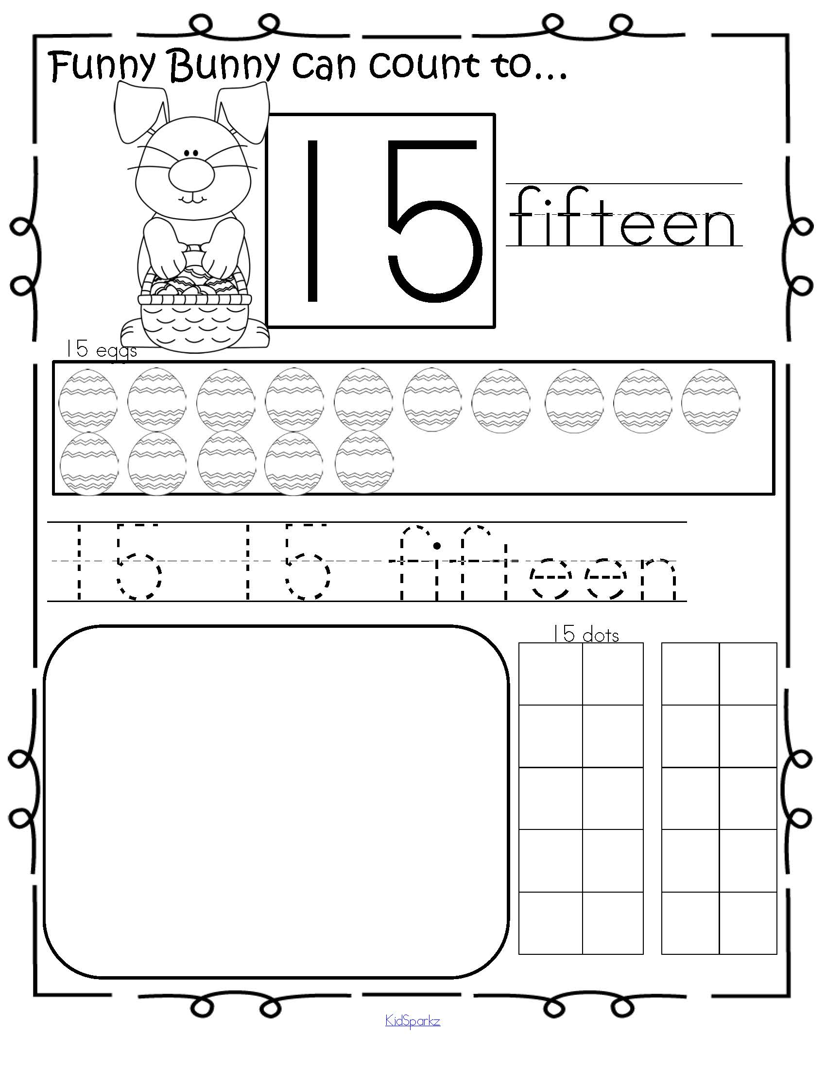 Easter Bunny Theme Number Practice Pages 1 20