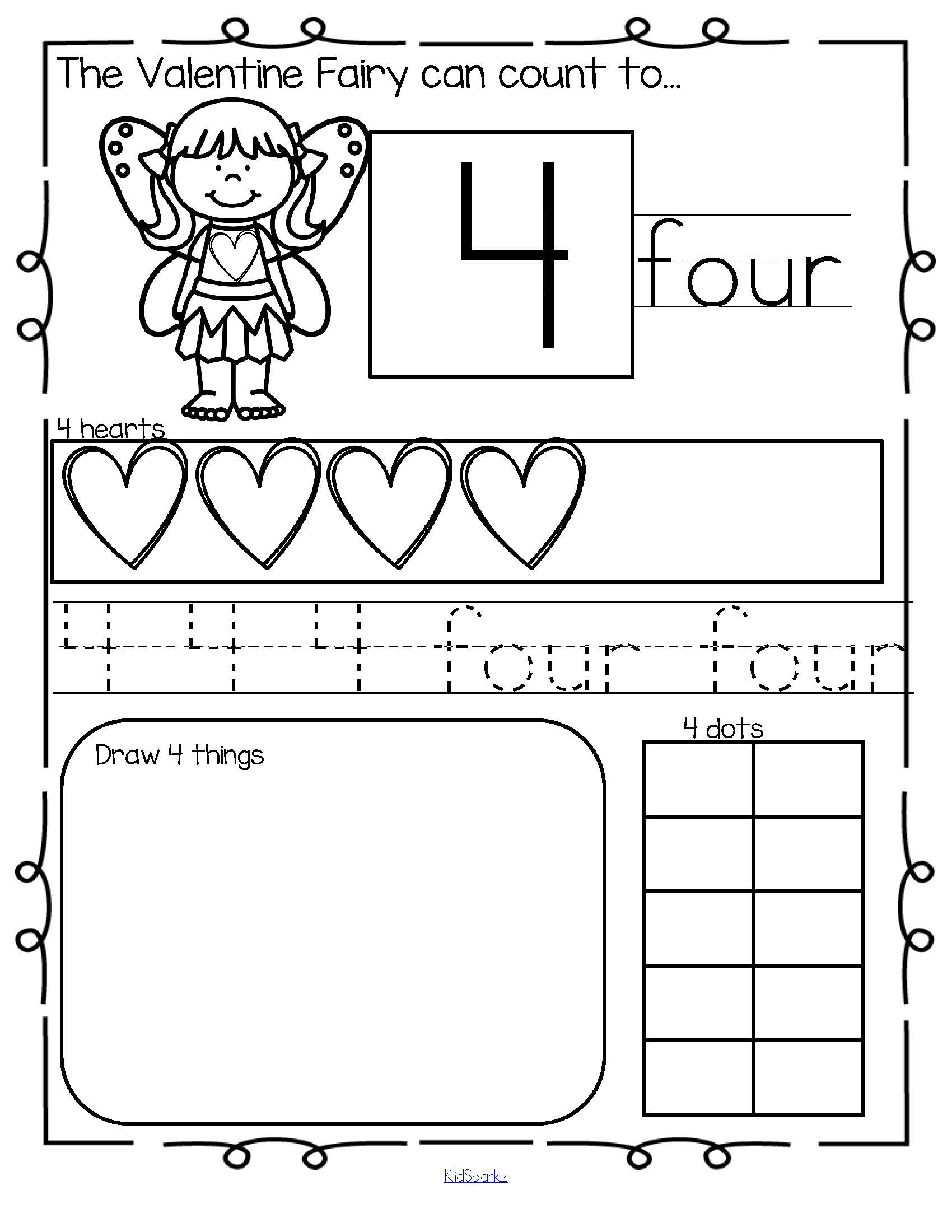 Valentine S Day Number Practice Printables