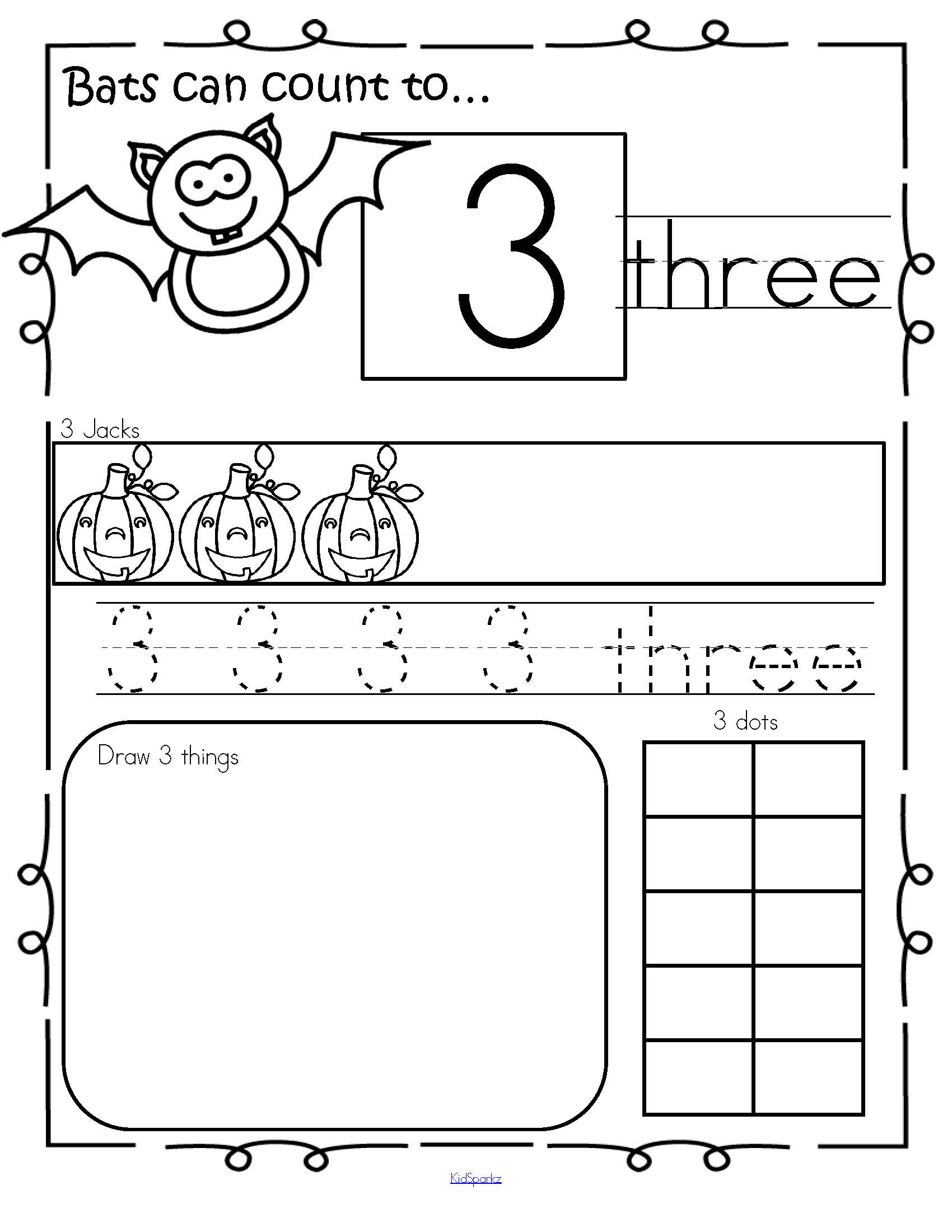 Halloween Number Practice Printables