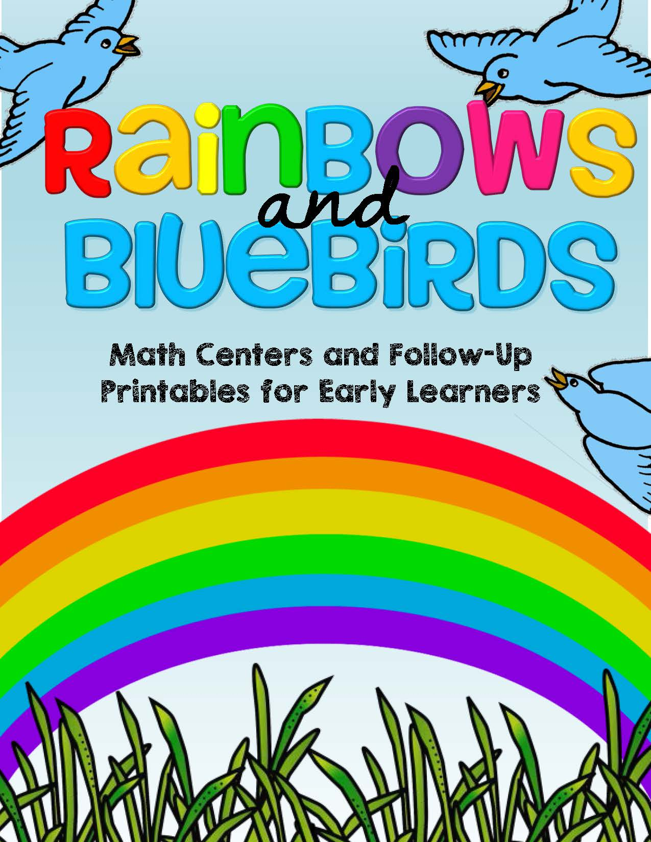 Spring Rainbows Amp Bluebirds Math Centers Amp Printables