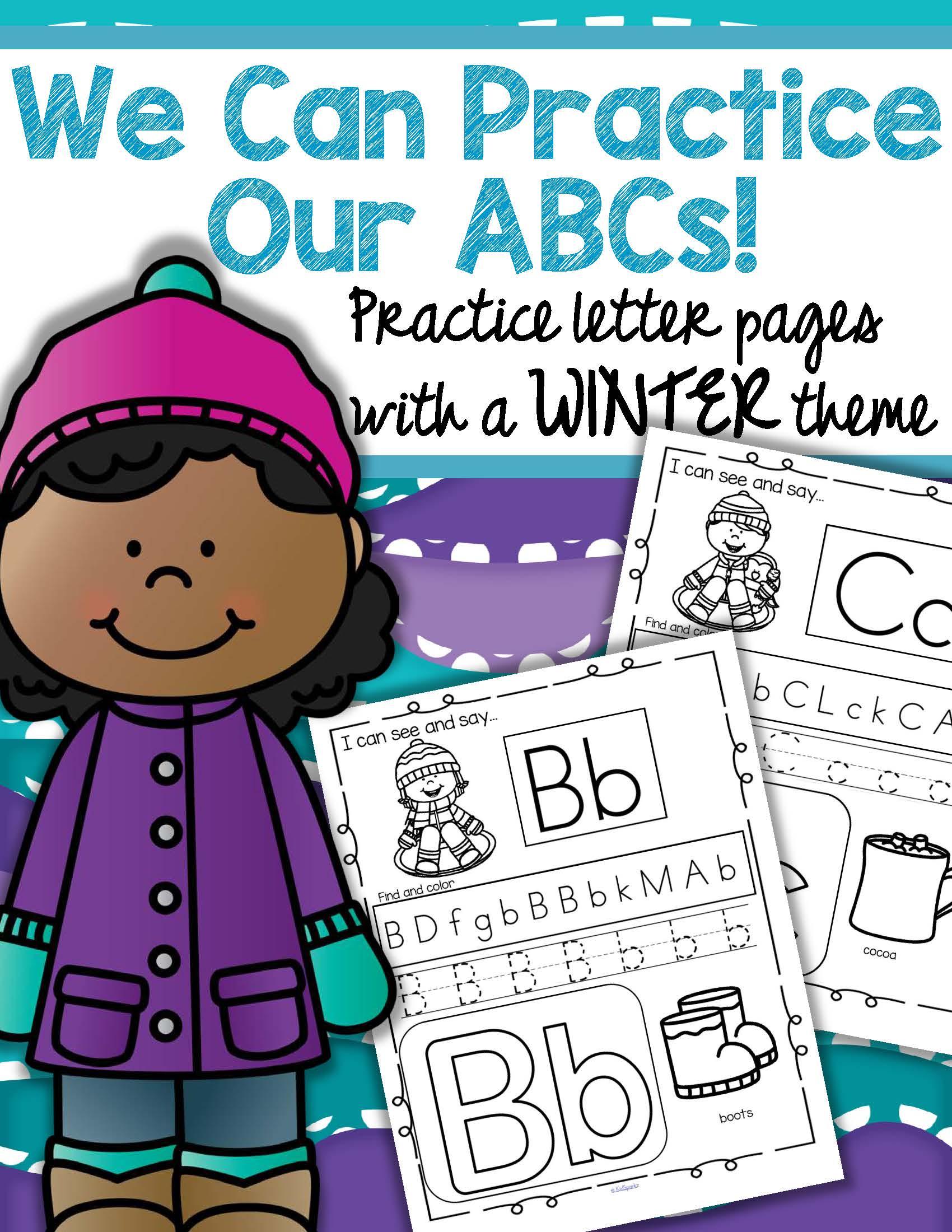 Winter Alphabet Practice Printables