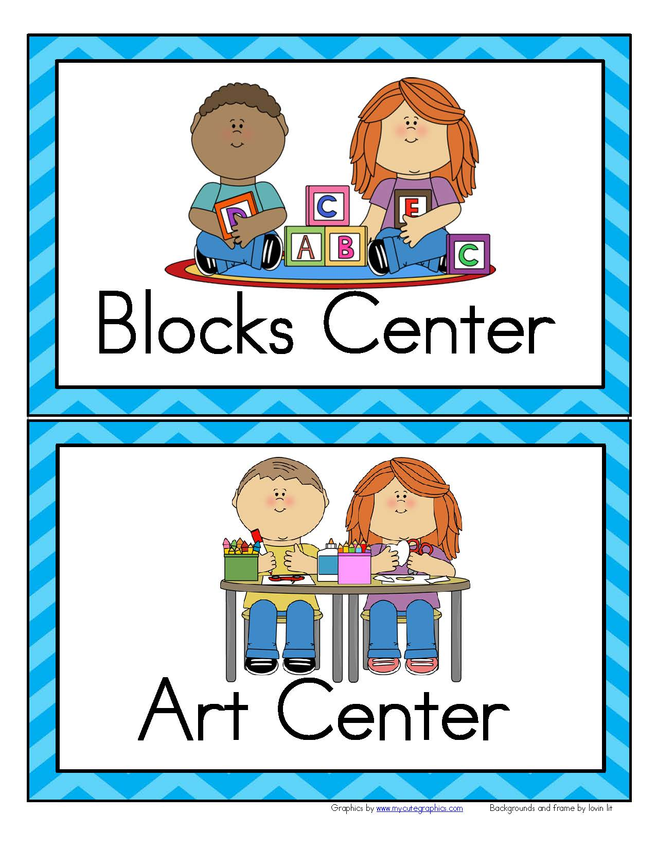 Free Printable Classroom Center Signs That Are Priceless