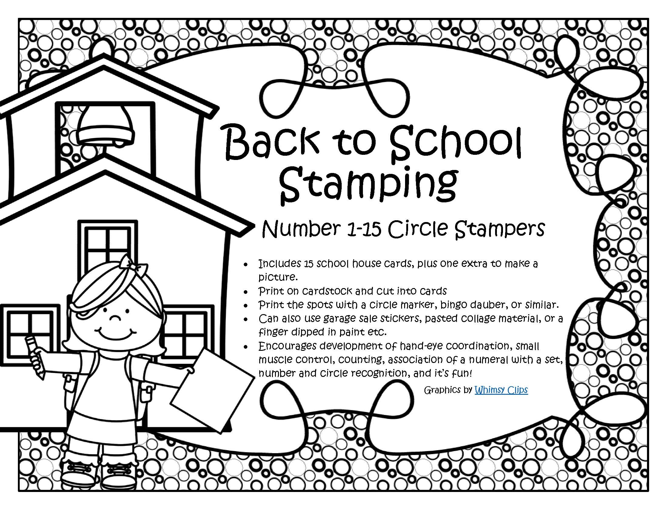 Back To School Numbers Dot Markers