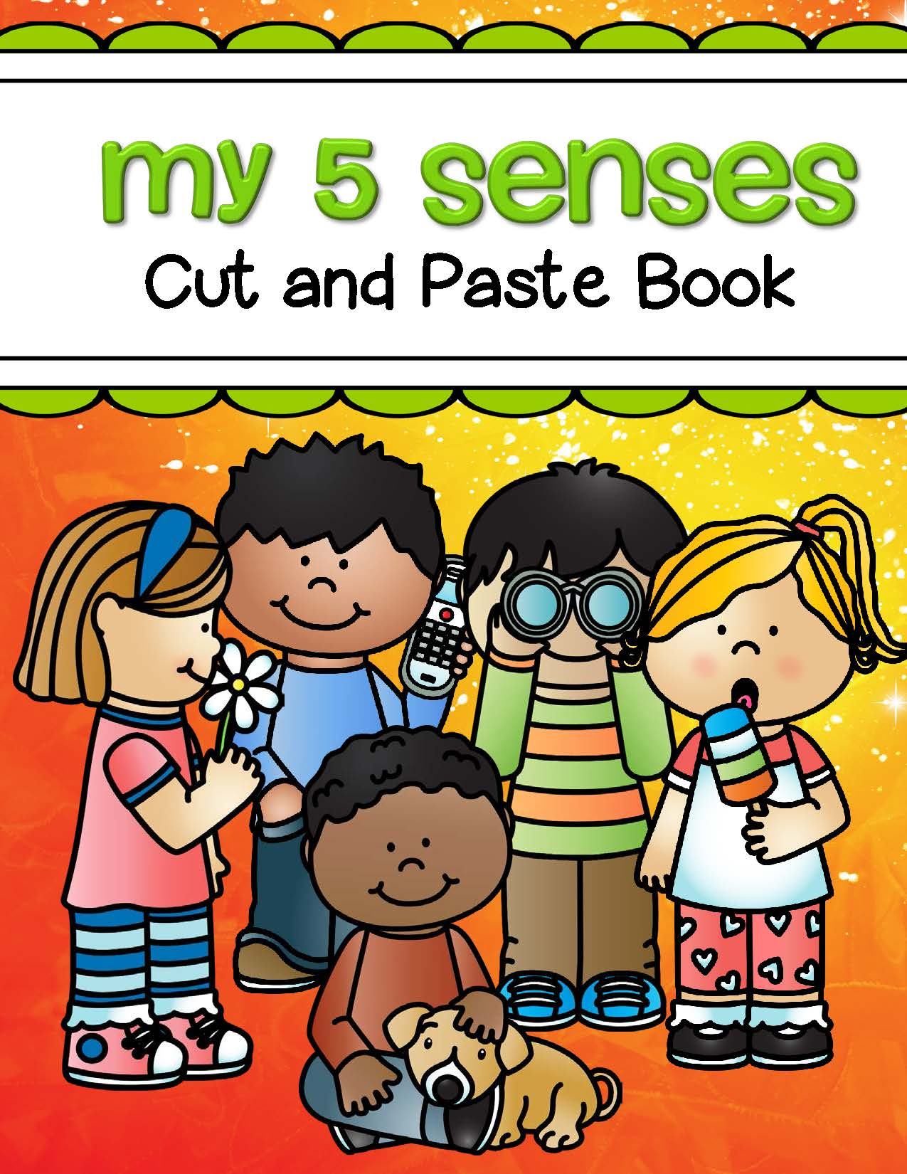 5 Senses Cut And Paste Book