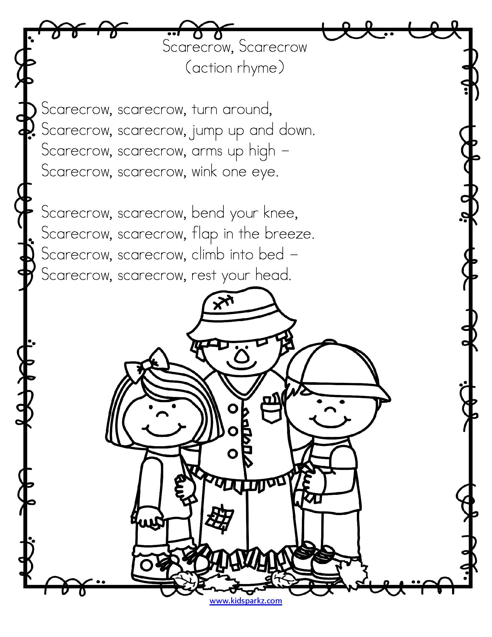 Fall Songs And Rhymes With Activities
