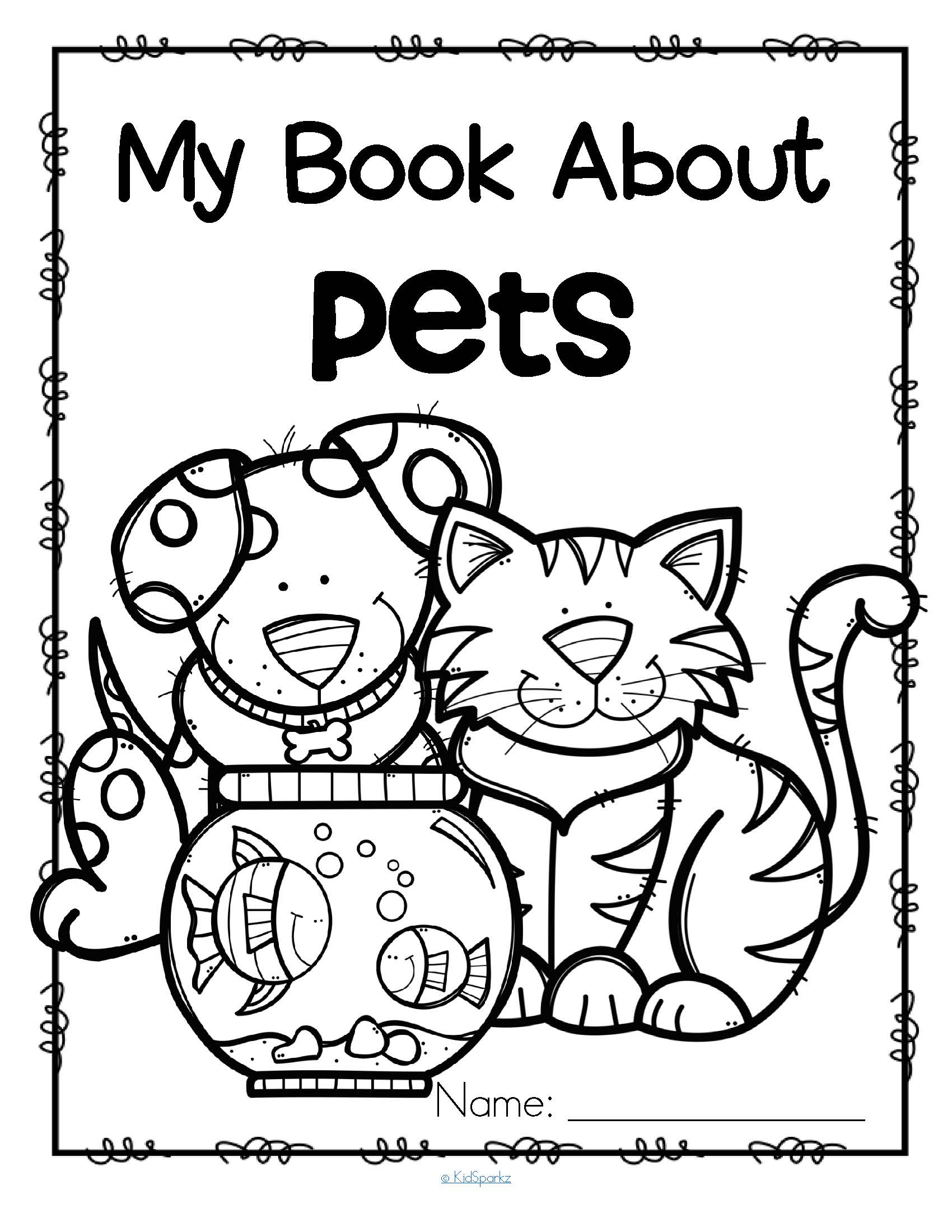 Pets Activity Printables For Preschool