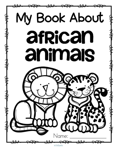 My Book About African Animals Activities