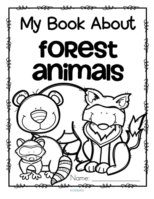 Wild animals and zoo activities for preschool, prek and