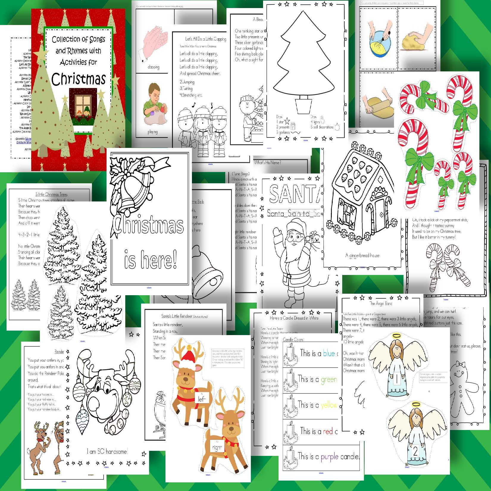 This Is A Collection Of Christmas Themed Songs And Rhymes Each With One Or Two Hands On