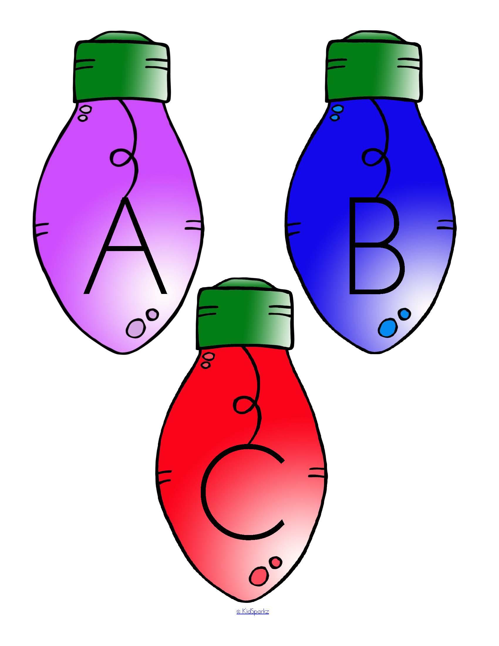 Christmas Lights Alphabet Center And Printables