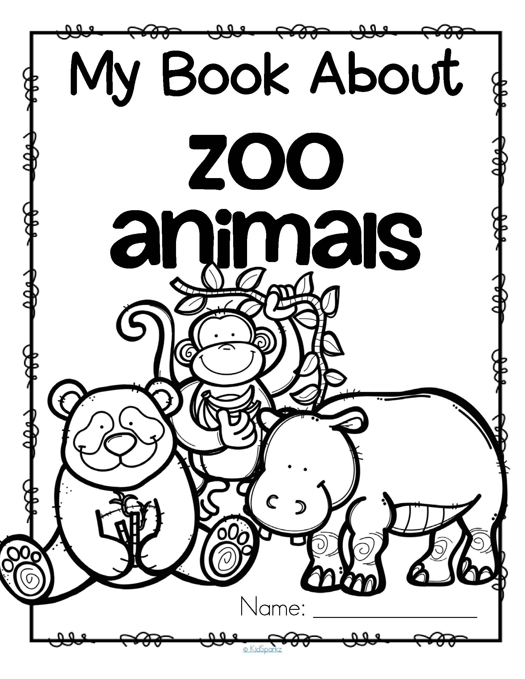 My Book About Zoo Animals