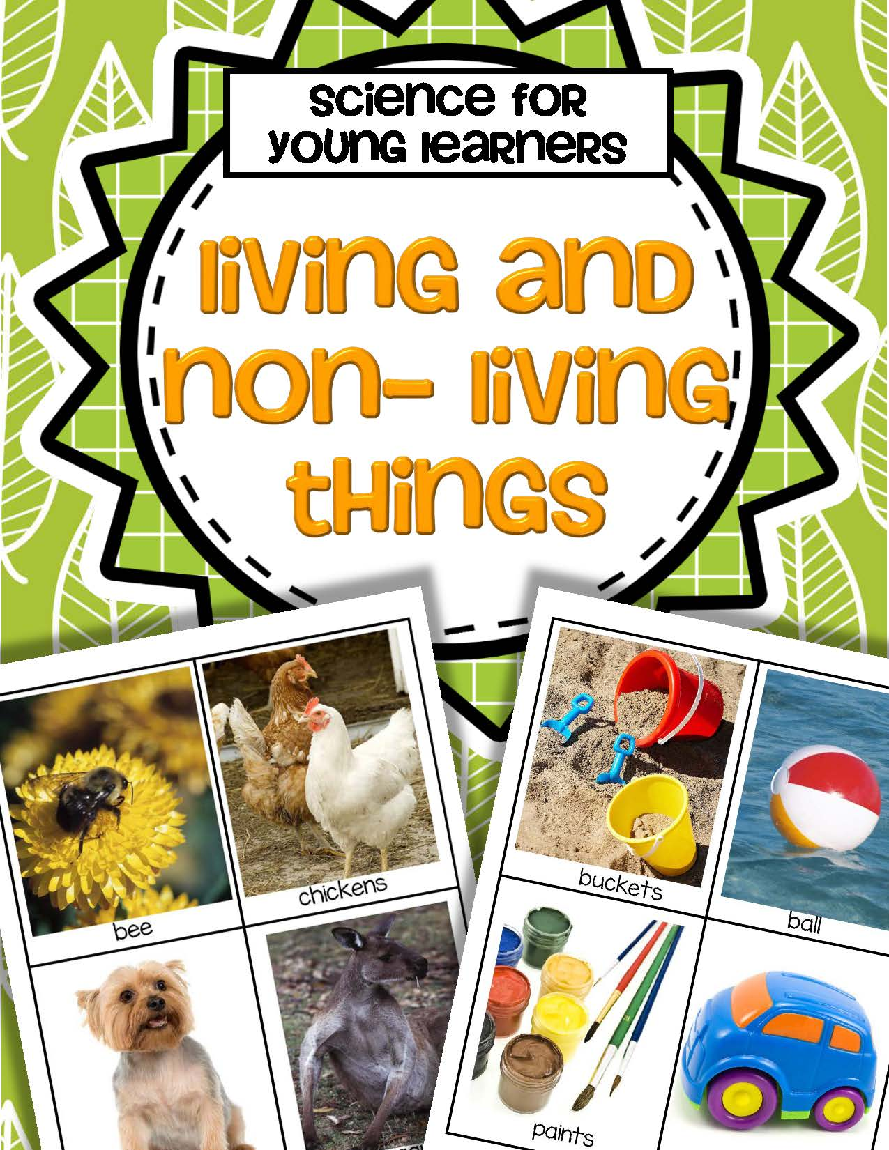 Living And Nonliving Things Activity Pack For Preschool