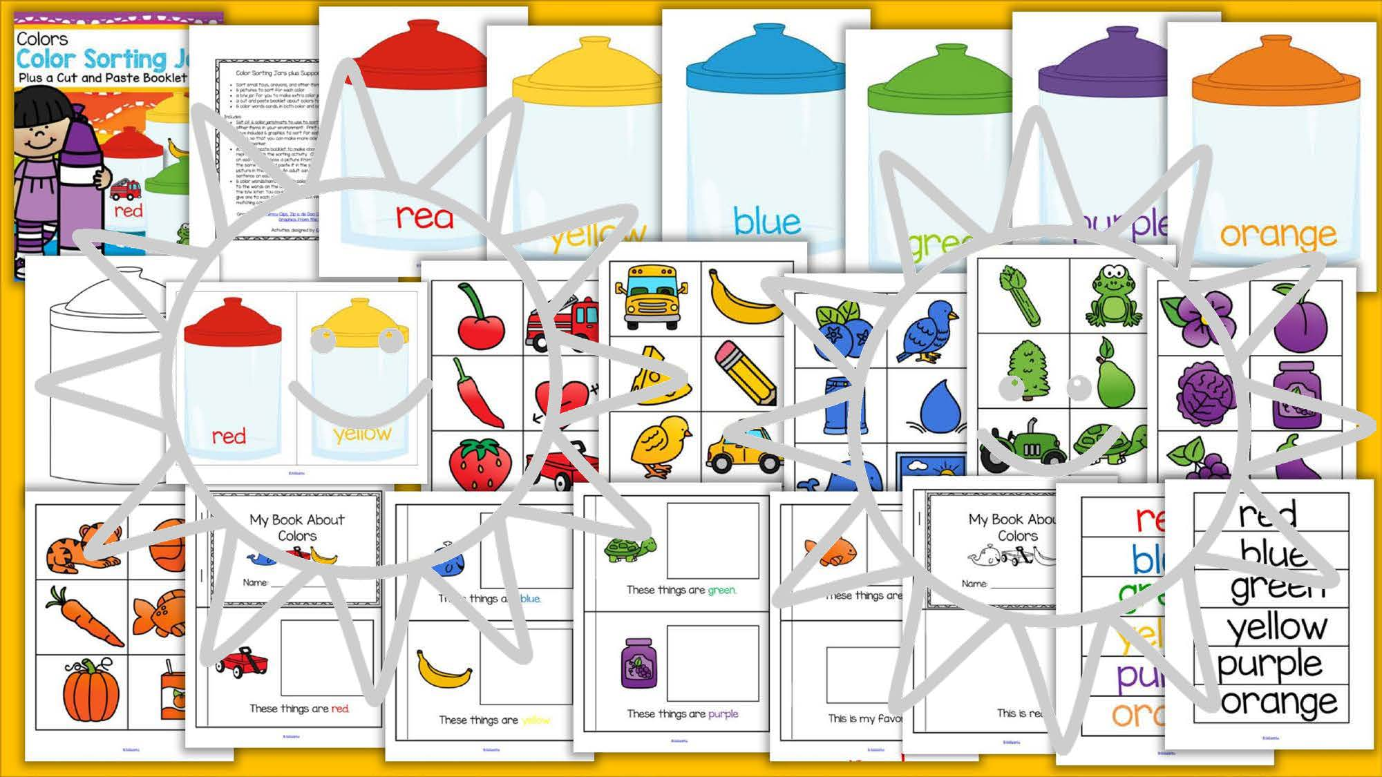 Color Sorting Center And Printables For Preschool