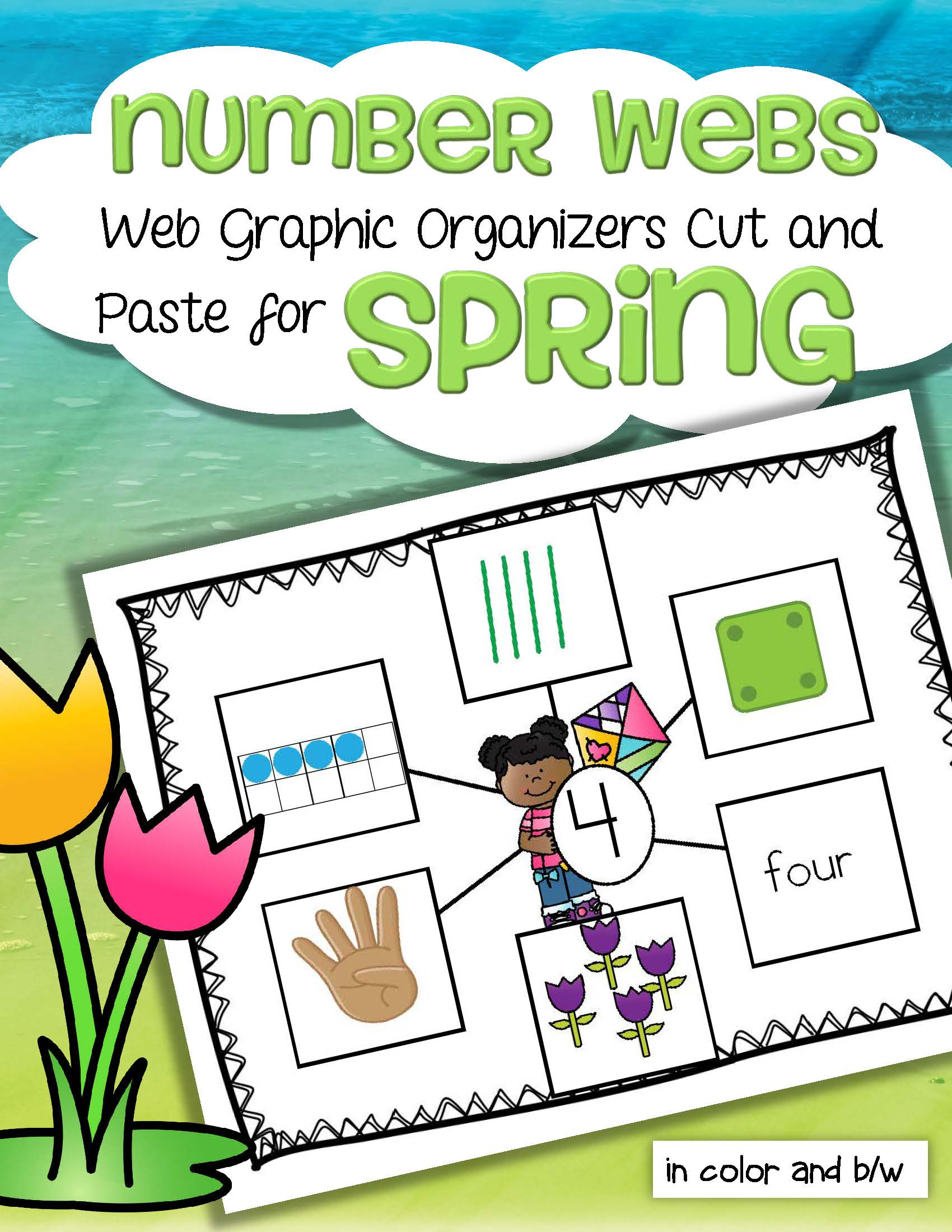 Spring Number Webs 1 10 Cut And Paste