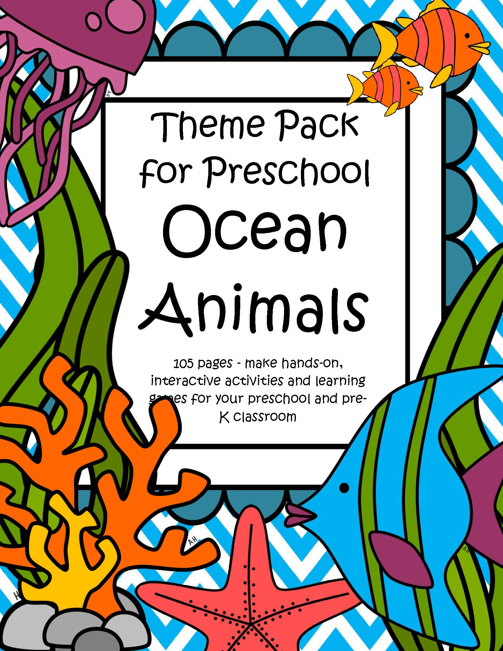 Ocean Animals Theme Pack For Preschool