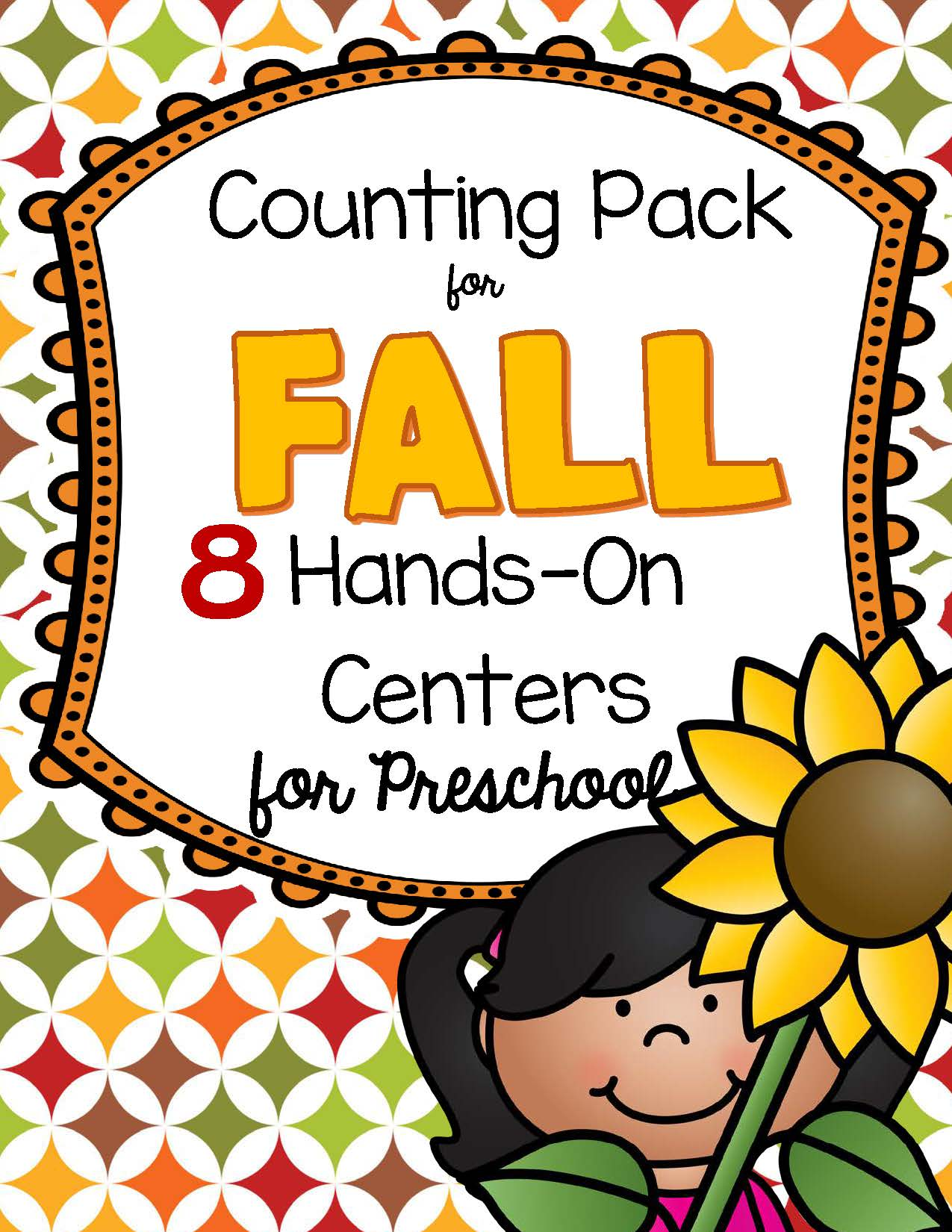8 Fall Counting And Number Centers For Preschool And Pre K