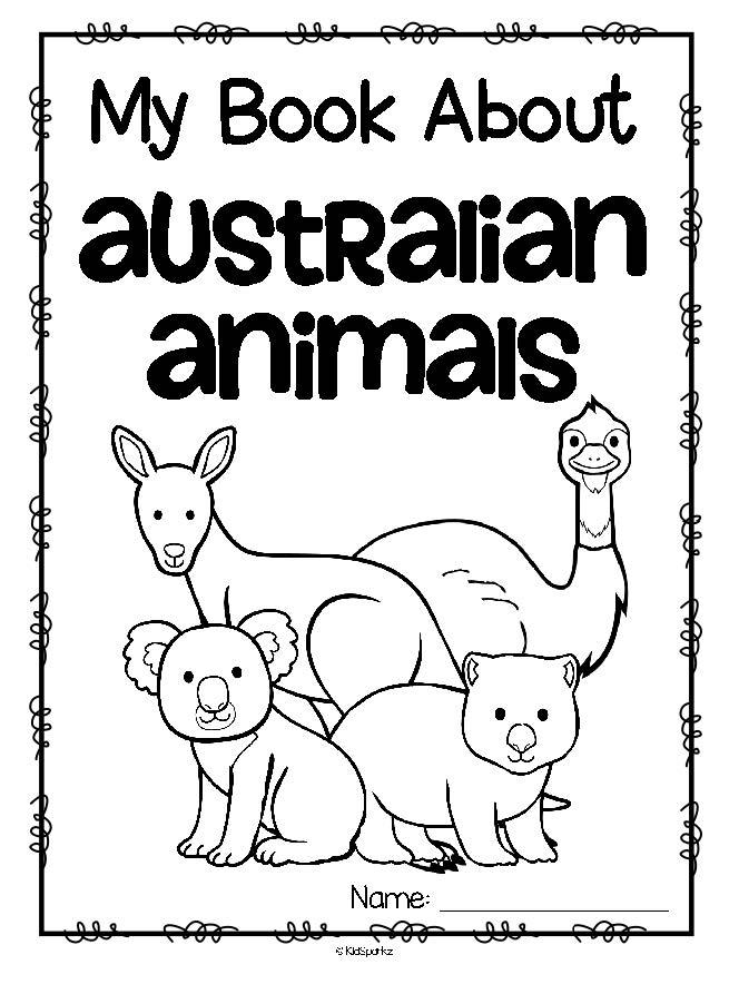 Australian Animals Activity Printables for Preschool