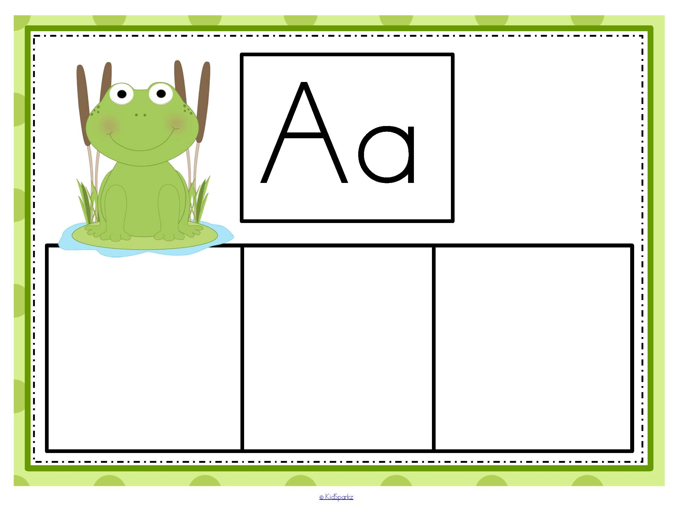 Frogs Beginning Sounds Center For Preschool Pre K And