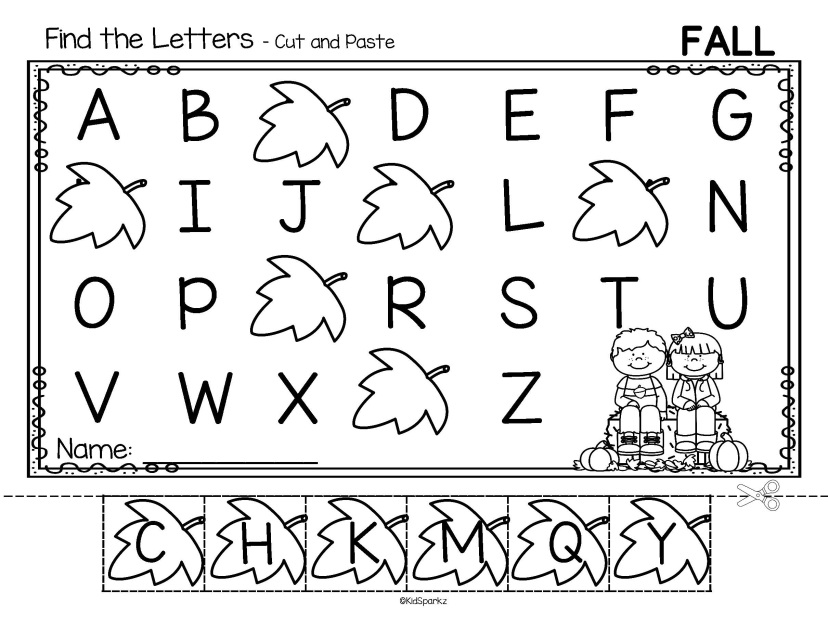 ALPHABET ORDER Cut and Paste Worksheets Using Preschool Themes