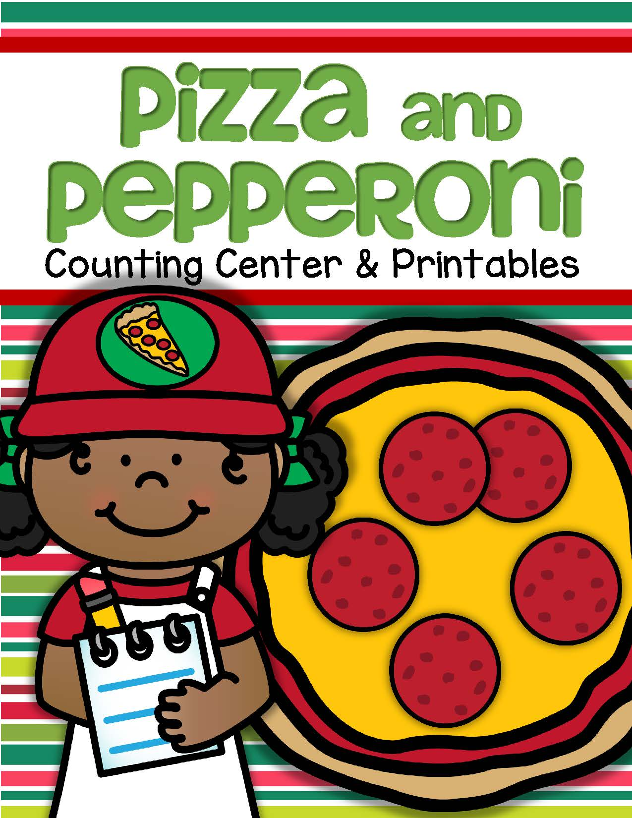 Pizza And Pepperoni Math Counting Center Plus Printables 0 10