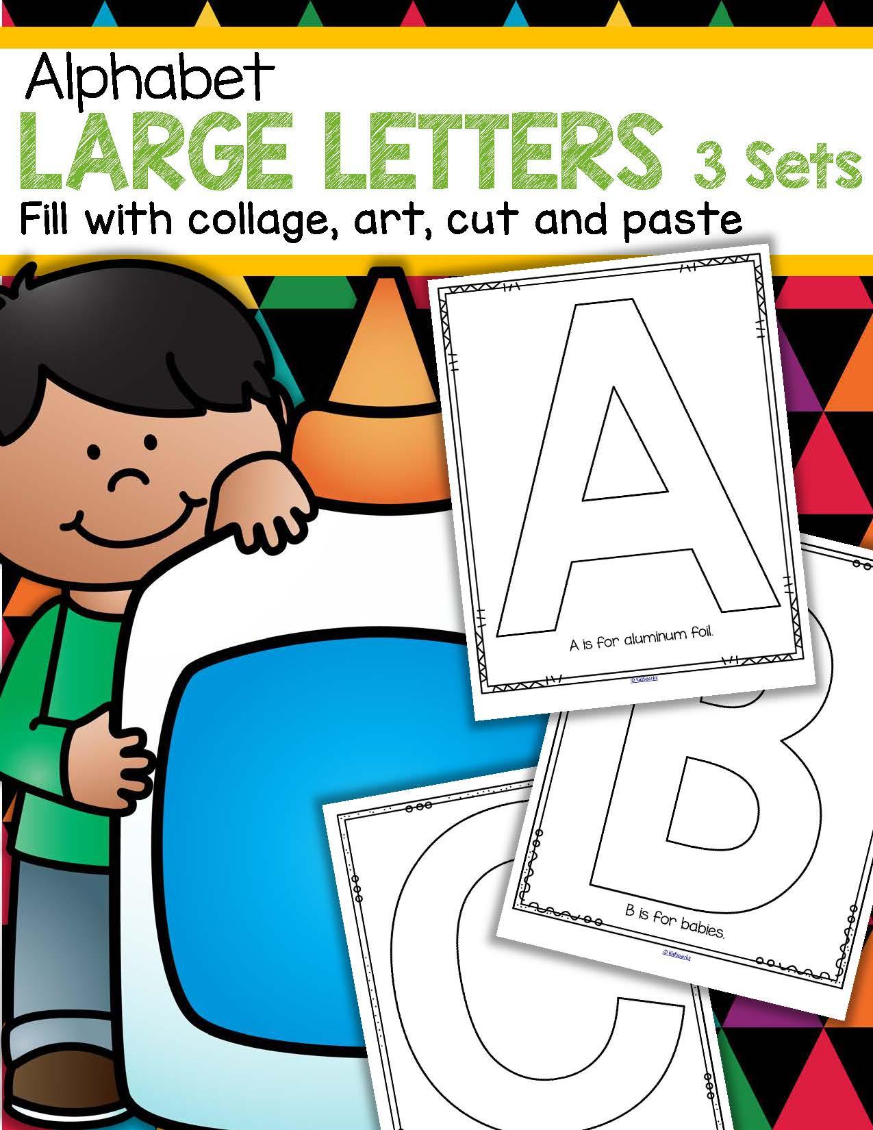 Alphabet Creative Large Letters 3 Sets