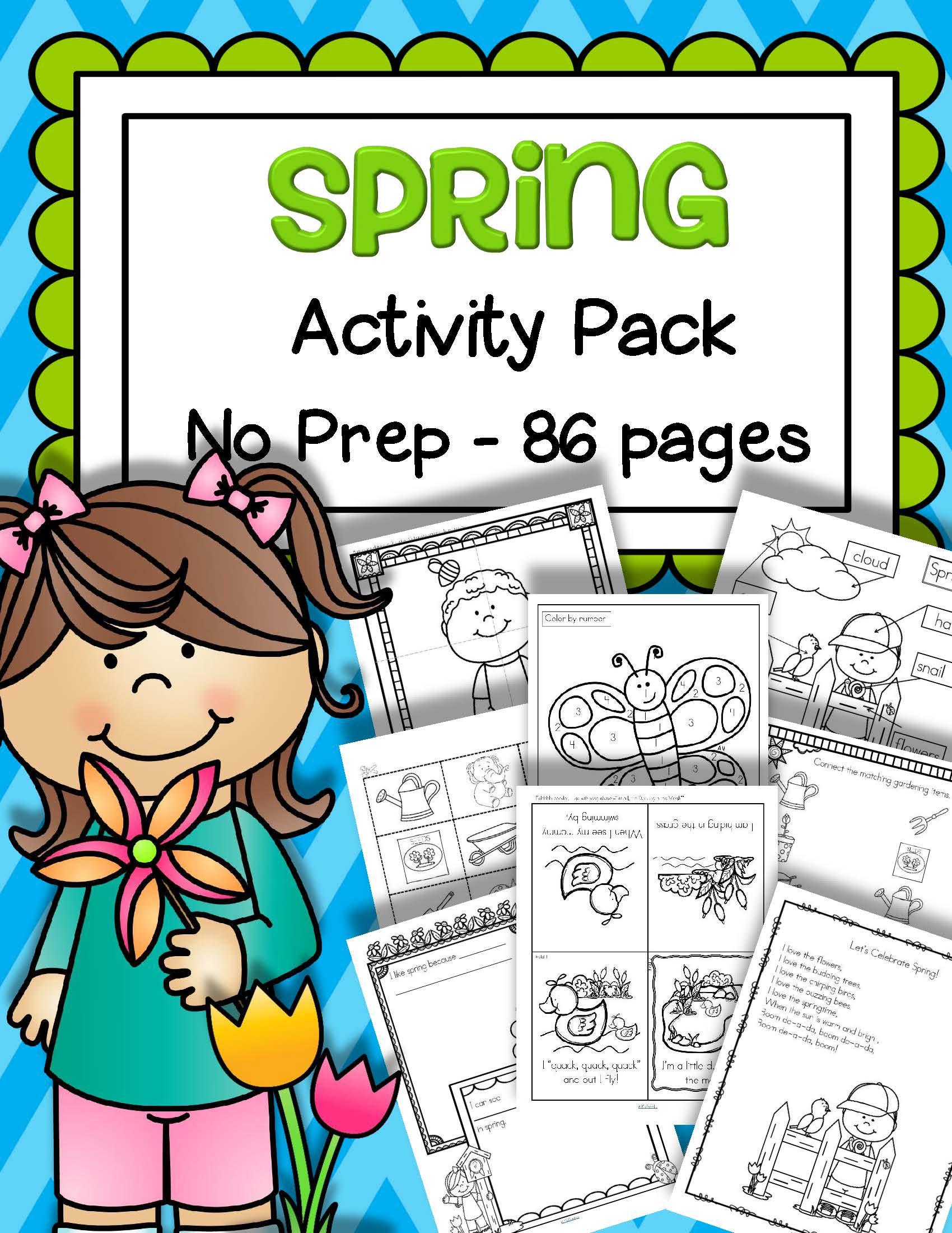 Spring Activities Printables No Prep