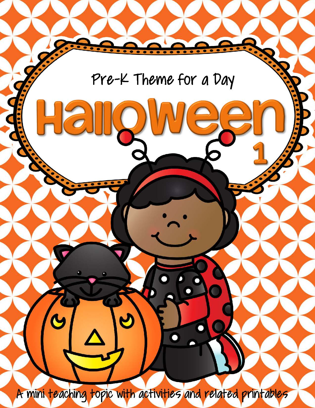 Halloween 1 Theme Math And Literacy Activities Printables