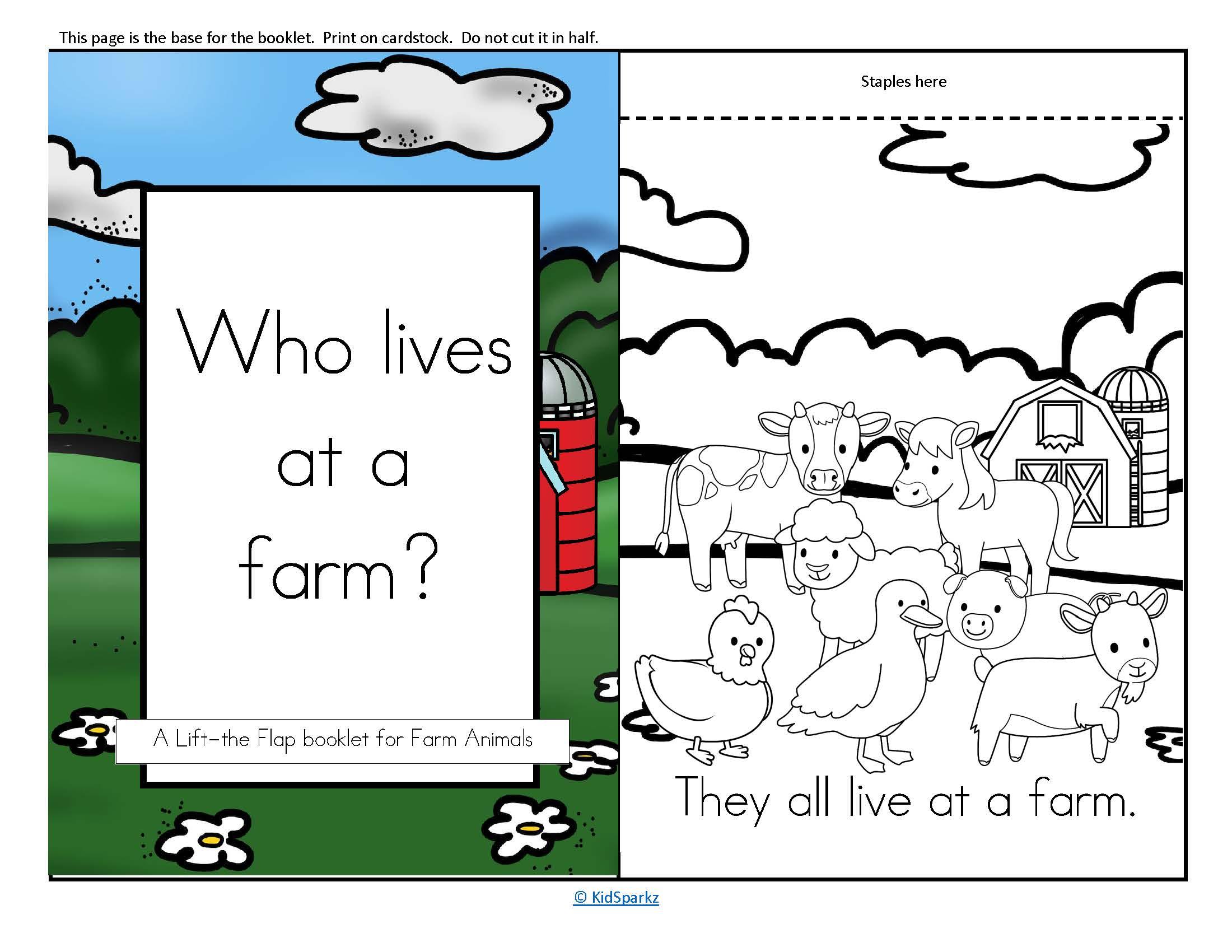 Farm Animals Informative Reader Plus Puppets Vocabulary