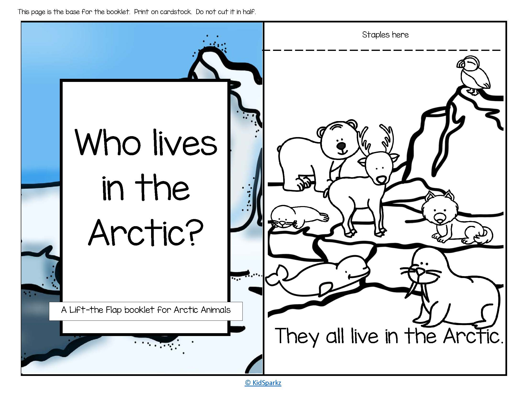 Arctic Animals Informative Reader Plus Puppets Vocabulary