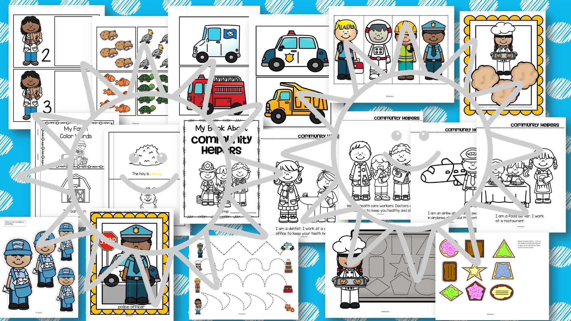 Community Helpers Theme Pack For Preschool