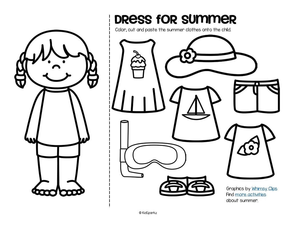 Summer theme activities and printables for Preschool, Pre
