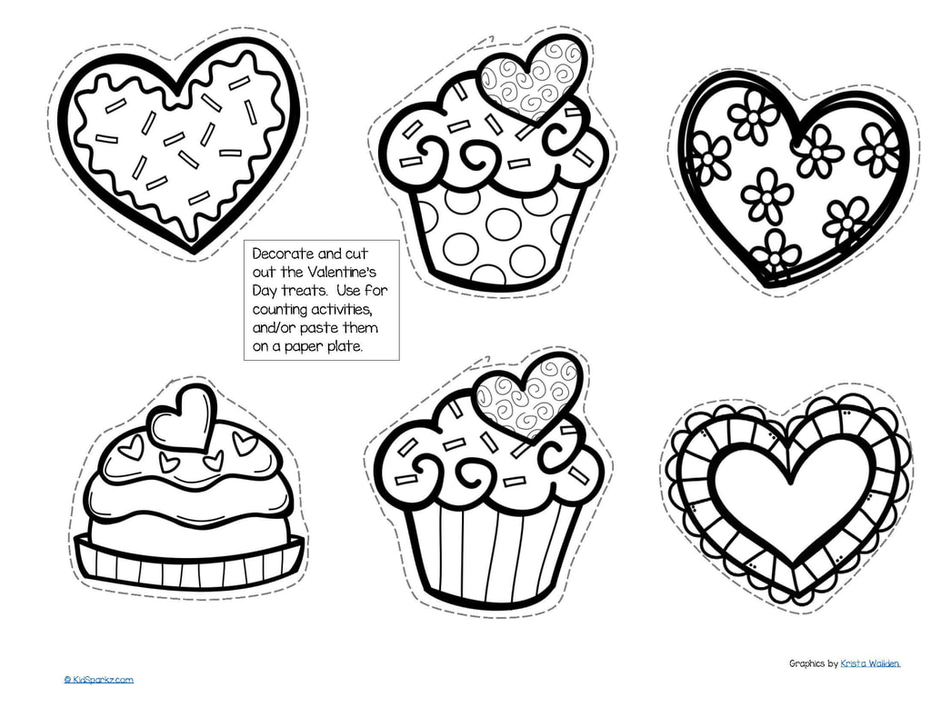 Preschool Worksheets For Valentines Day Tracing Cut And