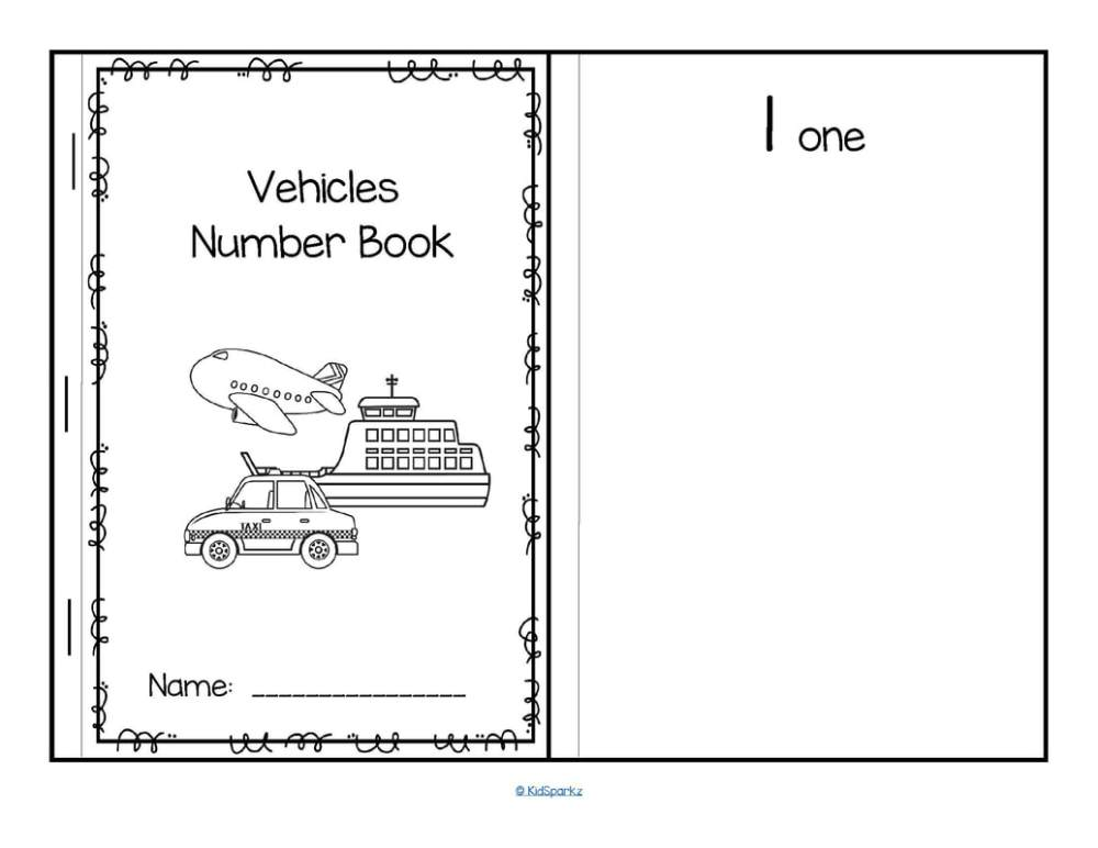 medium resolution of vehicles cut and paste booklet create sets of b w vehicles 1 10