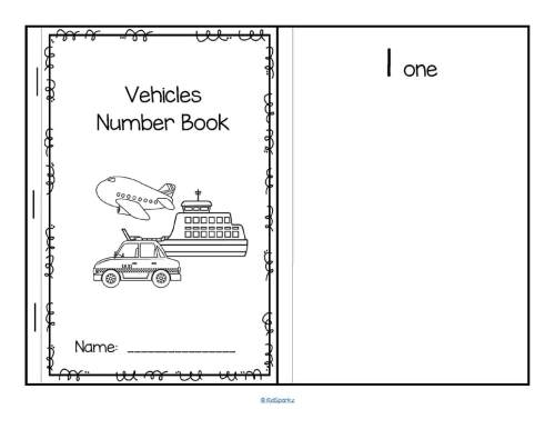 small resolution of vehicles cut and paste booklet create sets of b w vehicles 1 10