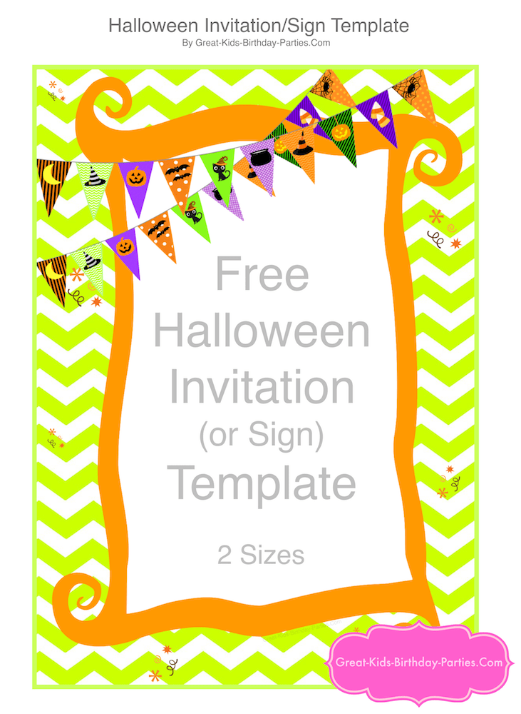 Free scary halloween invitations to edit, personalize, print with excellent image resolution, you can create and assemble your own party invitation online with personalized text. Free Halloween Printables