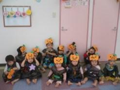 かぼちゃのお化けに仮装