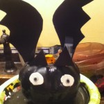 bat decorated pumpkin