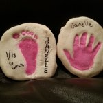 Handprint/footprint Keepsake