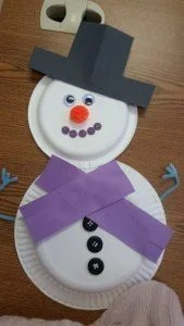 snowman. Materials 2 paper plates ... & Easy Snowman Paperplate Construction Paper Craft for Kids Winter ...
