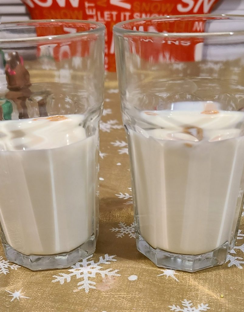 2 glasses of milk