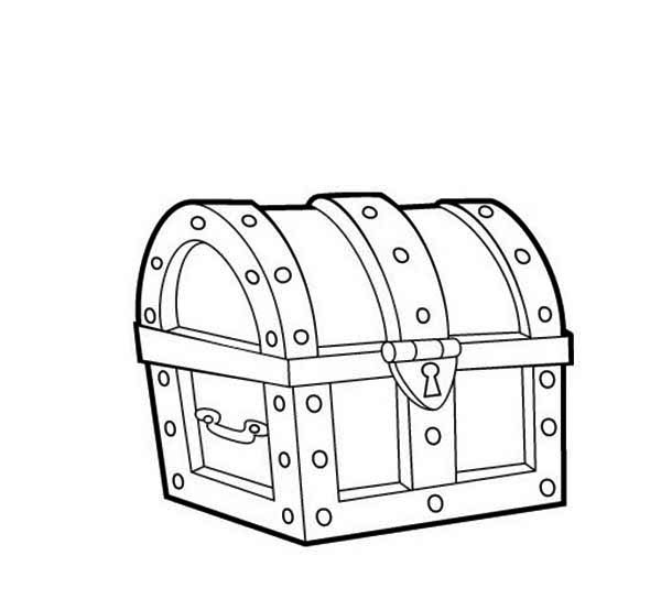 A-Classic-16th-Century-Closed-Treasure-Chest-Coloring-Page