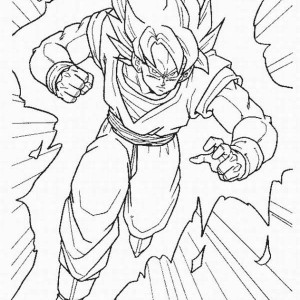 Broly Super Saiyan Form In Dragon Ball Z Coloring Page