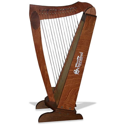 15-string-cherry-harp-with-bench