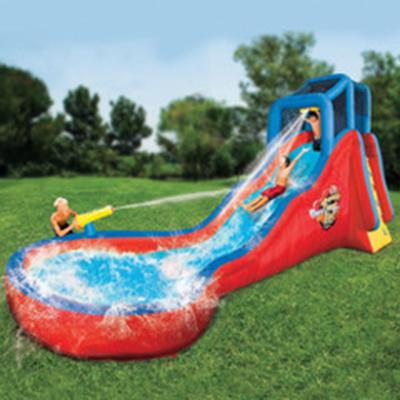 18 Foot Splashing Soaker Slide - The Perfect Inflatable Water Slide For Kids Ages 5 and Above