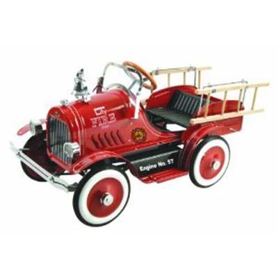 Dexton Llc Deluxe Fire Truck Pedal Car