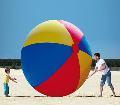 Giant Inflatable Beach Ball - Have fun swimming, beach walking and volleyball playing this summer