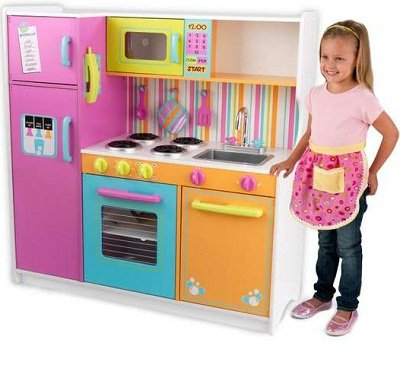 KidKraft Big and Bright Kids Pretend Play Kitchen 3