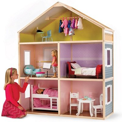 The 6' Tall Dollhouse - A 5 Room Doll House for Kids ages 8 years old and above